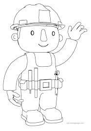 Bob The Builder Coloring Games Online To Wave Ones Hand Page Pages Free Download Printable