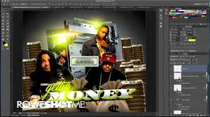 WATCH ME DESIGN A BANK THEMED MIXTAPE COVER IN ADOBE PHOTOSHOP