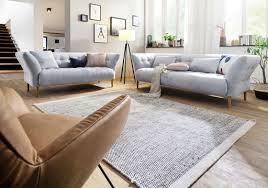 polstermöbel sitzgruppe modern landhaus 3 sitzer mit 2 armlehnen 240 cm yelda light grey
