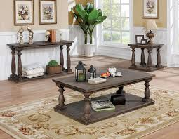 TAMMIE GRAY RUSTIC STYLE SOFA TABLE SET