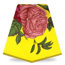 30 Yards Lot Premium Yellow Multi Color Peony Flower Print Holland Super Java