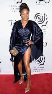 Tiffany Haddish Navy Satin Dress Critics Circle Awards 3