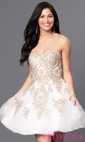 strapless babydoll homecoming dresses promgirl