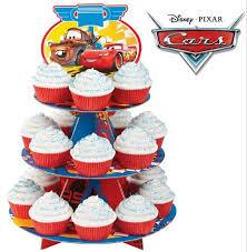 Katzwhiskas Disney Pixar Cars 3 Tier Cake stand