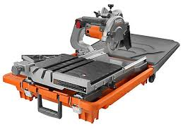 ridgid 7 in jobsite wet tile saw the home depot canada