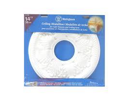 Split Design Ceiling Medallion by Westinghouse Lighting 7775000 Bellezza Polyurethane Ceiling