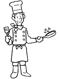 An Old Cook In Community Helper Coloring Pages Free Printable For Kids