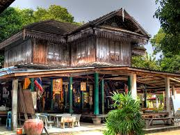 Old Wooden House Thai To Koh Samui