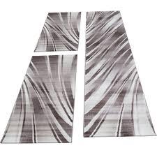homebyhome moderner wellen design konturschnitt teppich 3tlg