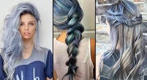 Denim Hair Trend Box Braids Goddess Waves Wavy Texture Hairstyle Trends 2017 2018
