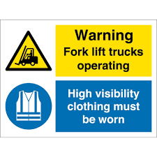 100 Signs For Trucks K Lift Operating Wear High Visibility Clothing