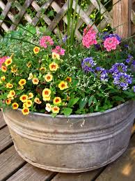 Chic Galvanized Buckets For Bucket Ideas Rustic Made Of Metal Pot