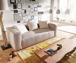 3 sitzer oceana 245x102 cm beige kubisch mit kissen möbel