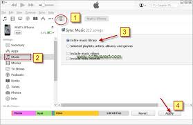 Sync music from PC to iPhone through iTunes