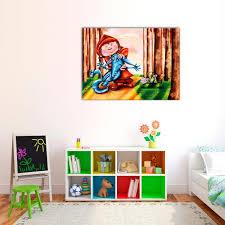 toile chambre tableau petit chaperon decodeo