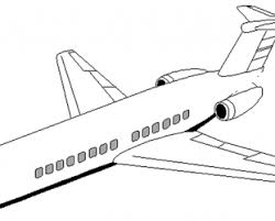 Airplane Coloring Pages Simple Color Page
