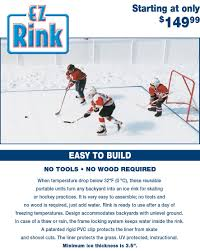 Icengo.com - EZ Rink | Winter Backyard Ideas | Pinterest Backyard Hockey Rink Invite The Pens Celebrity Games Claypool Ice Rink Choosing Your Liner Outdoor Builder How To Build A Backyard Bench For 20 Or Less Hockey Boards Board Packages Walls Diy Dad Keith Travers Calculators Product Review Yard Machines Snow Thrower Bayardhockeycom Sloped 22 Best Synthetic Images On Pinterest Skating To Create A Ice Rinks Customers