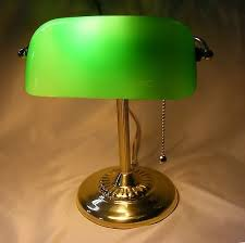 Bankers Lamp Green Glass Shade by Bankers Lamp Library Desk Lamp Green Glass Brass Body Pull Chain