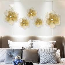 moderne schmiedeeisen gold blumen wand hängen ornamente