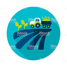 100 Seedling Truck Tractor On Field Harvest Flat Icon Stock Vector Art More