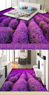 aesthetic lavender flower room living room 3d floor tiles 3d
