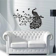 details zu wandtattoo wandaufkleber pfau vogel ast wohnzimmer schlafzimmer motiv 459 xl