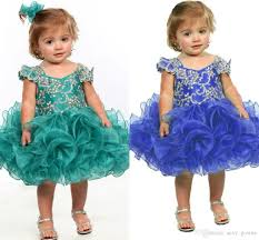 little flower dress blue purple baby infant toddler