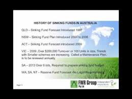 Define Annual Sinking Fund by Sinking Fund Management For Custom Care Body Corporate Services