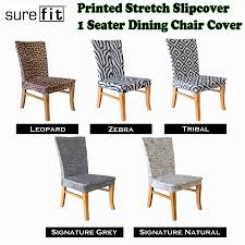 Grey Dining Room Chair Slipcovers by Stretch Slipcover 1 Seater Dining Chair Covers Choose Your Design