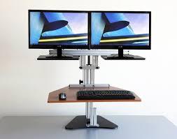 Kangaroo Standing Desk Dual Monitor by Kangaroo Elite Adjustable Height Desk Ergo Desktop Standng