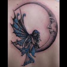 Some Of The Most Important Connotations Moon Are Feminine Mystique And Power Incorporating A Fairy Into Your Tattoo Will Further