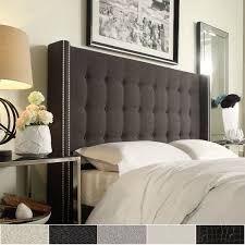 Skyline Button Tufted Headboard by Bedroom Beautiful Tufted Headboard Charcoal Grey Headboards How