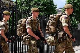 Britains Most Decorated Soldier Ever by Britain On Lockdown Soldiers Guard Westminster And Armed
