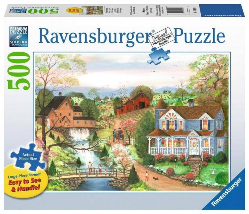 Ravensburger The Fishing Lesson Jigsaw Puzzles - 500pc