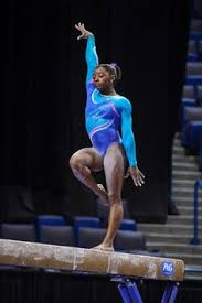 Simone Biles Floor Routine 2014 by Simone Biles Winking At Shawn Johnson During Her Floor Routine At