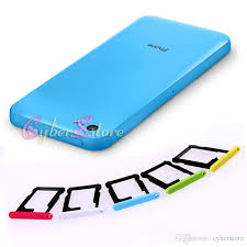 For IPhone 5C Colorful SIM Card Slot Tray Holder Replacement Part