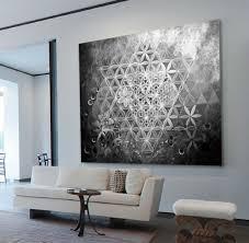 kaufen leinwand bild 135x100x5 abstraktes schwarz weiß