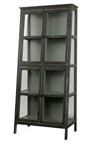 vitrine schrank heritage vintage holz glas schräg