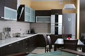 Amazing Contemporary Dark Wood Kitchen Cabinets Modern Style Dark