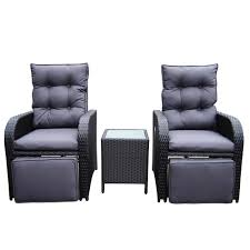 Buy Luxo Mykonos Twin Outdoor Recliner Set - Black Online ... Amazoncom Valita Outdoor Black Rattan Lounge 2 Piece 53 Resin Wicker Recliner Spray Pating Plastic Garden Chairs Seating Allibert Kensington Club 110cm Table Grey With 4 Recling Ding Armchairs Costway 6piece Patio Fniture Set Sectional Sofa Couch Yard Wblack Cushion Gorgeous Chairs Room Bedroom Target Sundeck Sjlland Table4 Recling Outdoor Dark Grey Frsnduvholmen Red And Tags High Top Pe Chaise Chair Beach Pool Adjustable Backrest Recliners Olive Green Moltes Seater Exists In 3 Colours Amusing Wooden Side