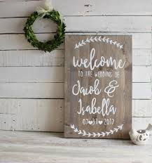 Rustic Wedding Decor Welcome Sign To Our Personalised SignsWooden