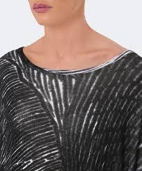 rundholz black and whiteoversized scribble print tunic dress jules b