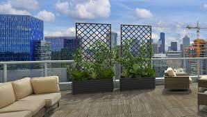hochwertige metall pflanzkübel mit spalier sichtschutz und