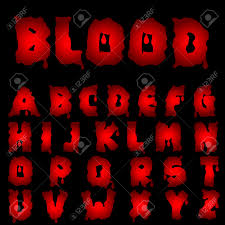 Red Blood Alphabet Bloody Font Vector Illustration Royalty Free