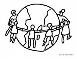 International Childrens Day Is On June Color Me Good Laughing Children Paper Doll Chain Stick Figures