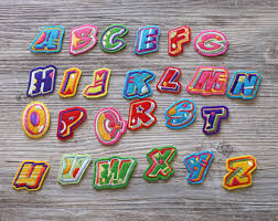 Sew on letters