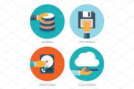 100 Flat Cloud Cloud Computing Background