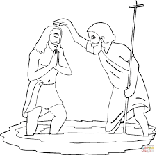 Click The John Baptising Jesus Coloring Pages