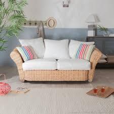 canapé rotin pas cher canapé en tissu coton et rotin de kubu au salon