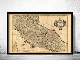 Old Map Of Tuscany Toscana Italy 1708